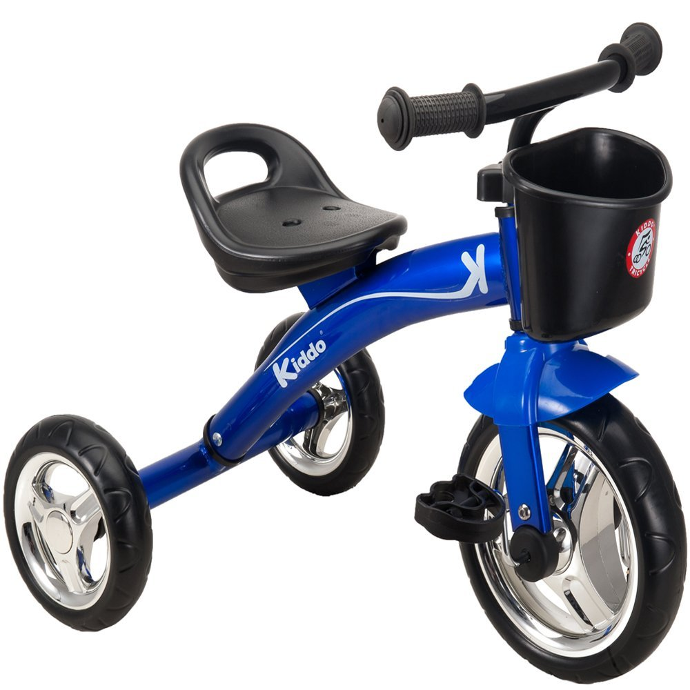 Kiddo Kids Trike 3 Wheel Childrens Ride On Tricycle - Blue